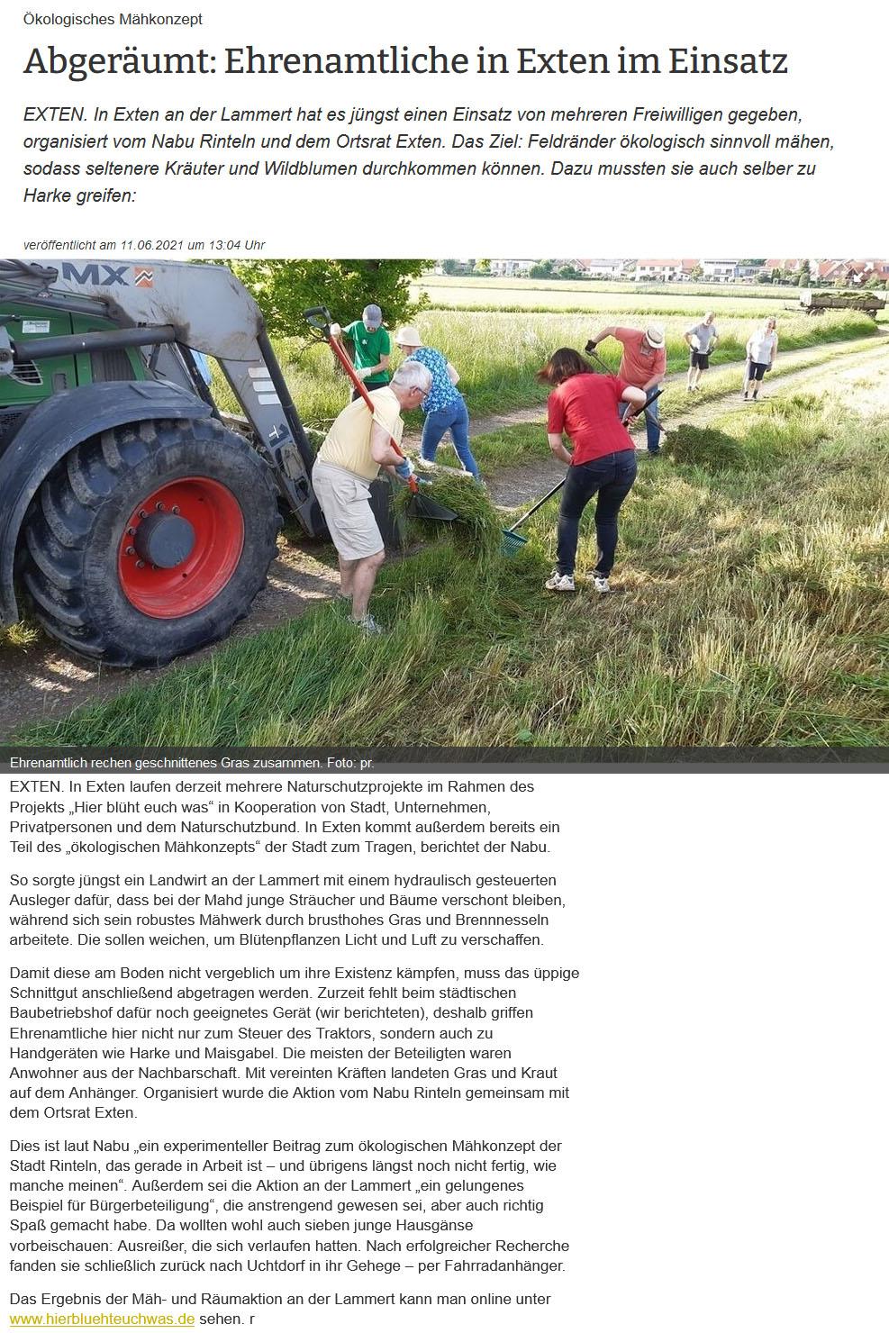 Abgeräumt - Naturpflege durch Landwirtschaft und Bürger im ehrenamtlichen Einsatz